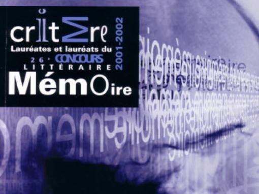 Mémoire | 2001-2002